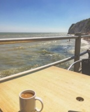 Tea with a view, Dumpton Gap, Broadstairs.
