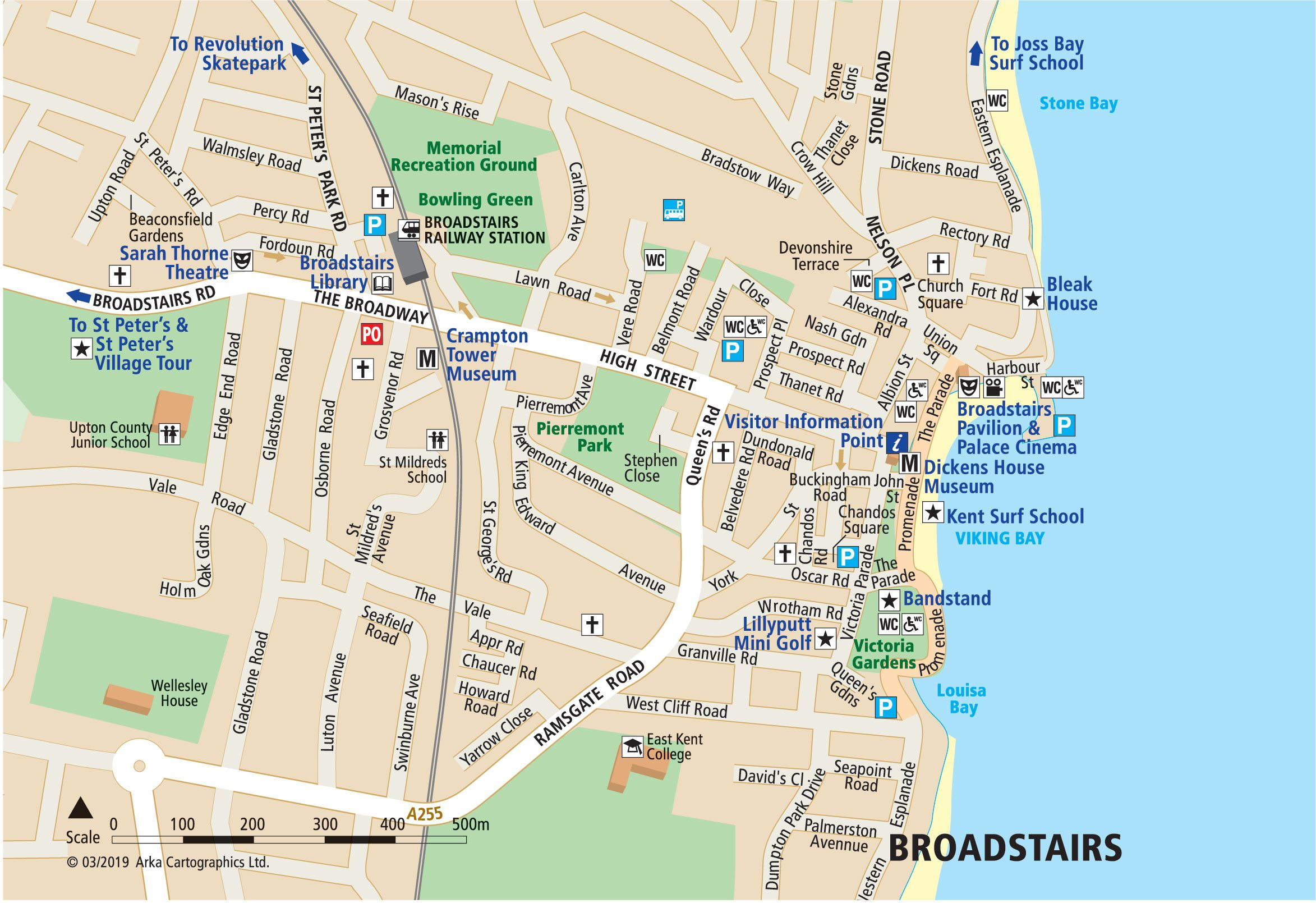 Map Of Broadstairs Maps of Margate, Broadstairs and Ramsgate   Visit Thanet