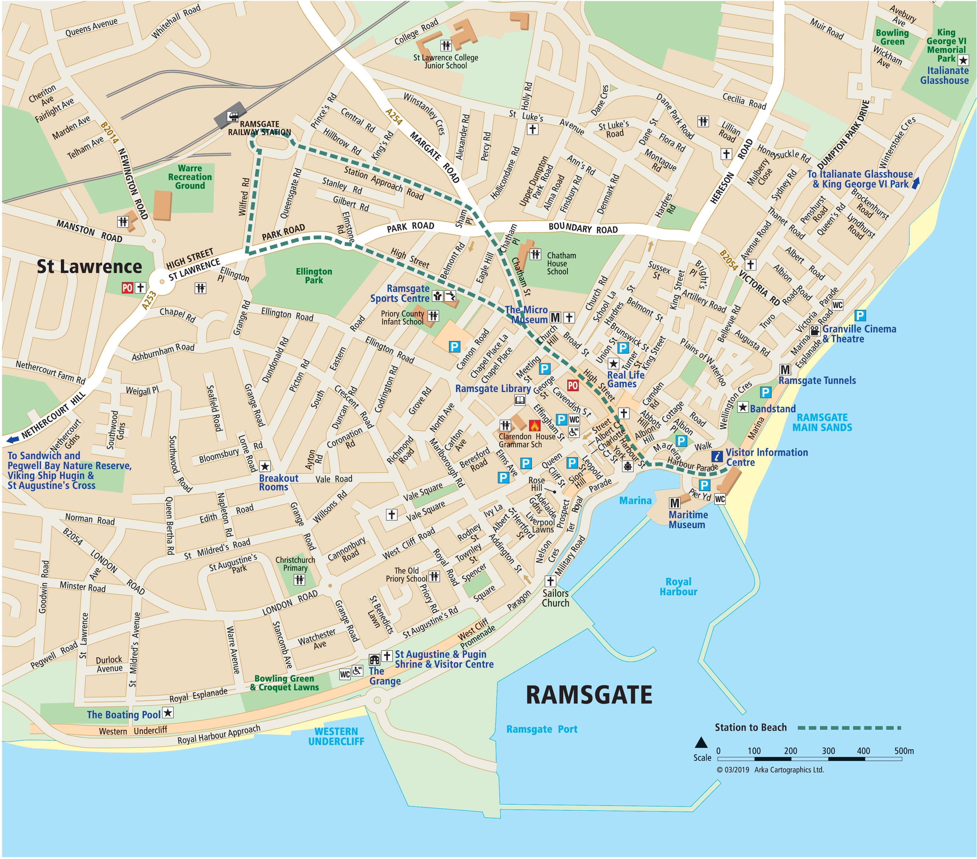 Map Of Ramsgate Maps of Margate, Broadstairs and Ramsgate   Visit Thanet