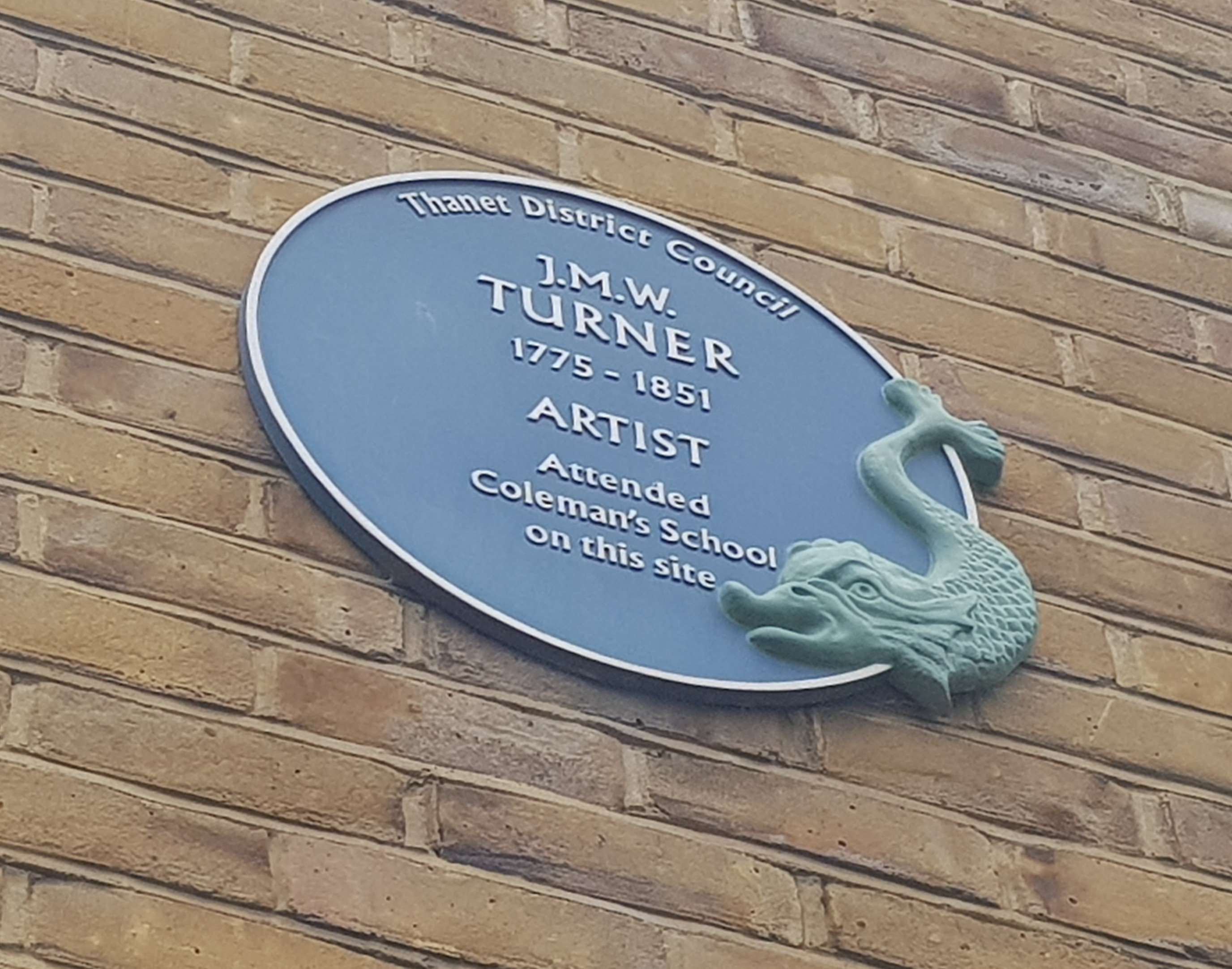 JMW Turner Blue Plaque