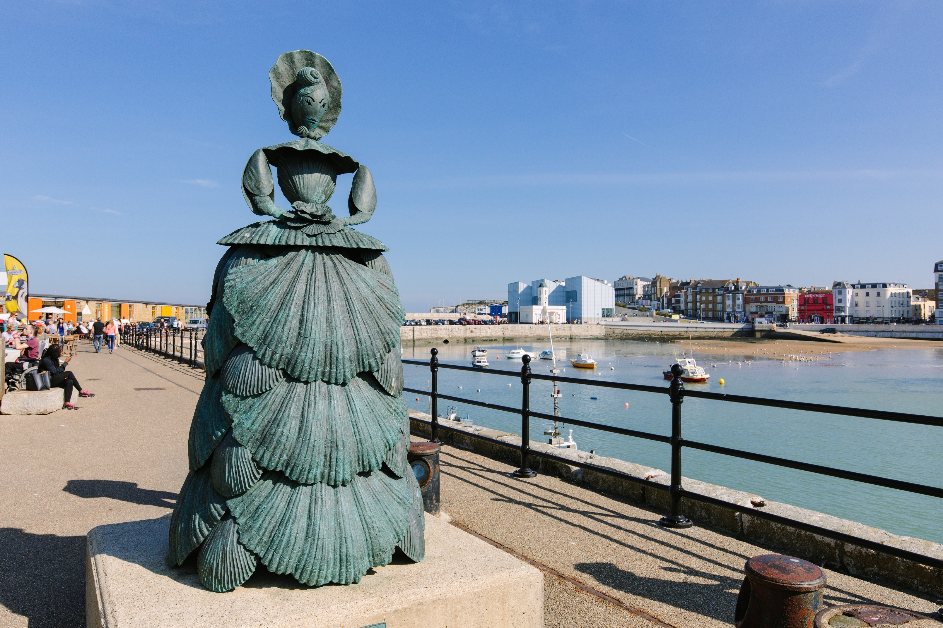 Mrs Booth Shell Lady, Margate Harbour Arm