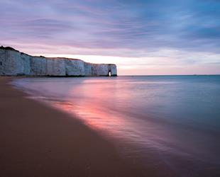 Sunset at Kingsgate Bay, Broadstairs