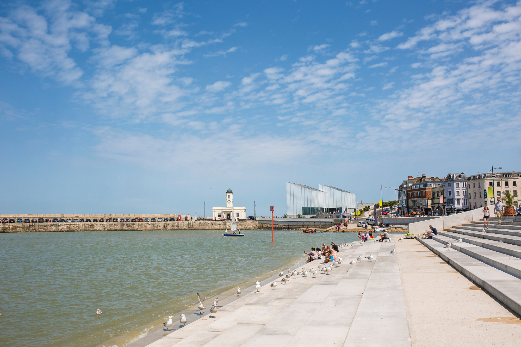 Margate harbour and Turner Contemporary